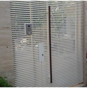 שער כניסה משולב אינטרקום